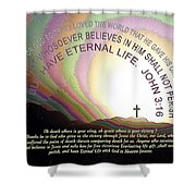 Cross, Jesus 114 Shower Curtain