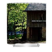 John Wesley Halls Gristmill Shower Curtain