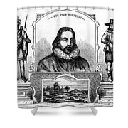 John Winthrop, English Puritan Lawyer Shower Curtain by Photo Researchers