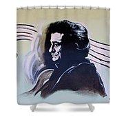Johnny Cash Shower Curtain