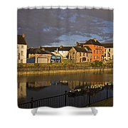 Johns Quay & River Nore, Kilkenny City Shower Curtain
