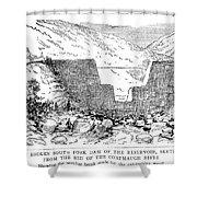 Johnstown Flood: Dam, 1889 Shower Curtain