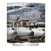 Joint Operations Squadron V4  Shower Curtain
