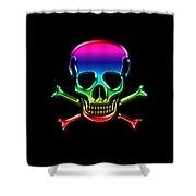 Jolly Roger Rainbow Shower Curtain