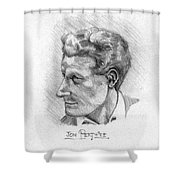 Jon Pertwee 1955 Shower Curtain