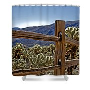 Joshua Tree Cholla Garden Shower Curtain