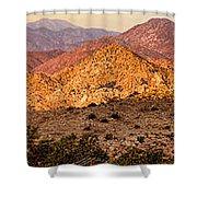 Joshua Tree Sunrise Panorama Shower Curtain