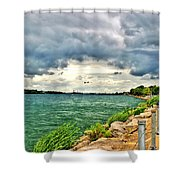Journey Back From The Bridge Shower Curtain