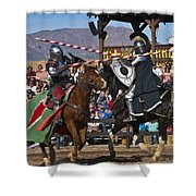 Joust To The End... Shower Curtain