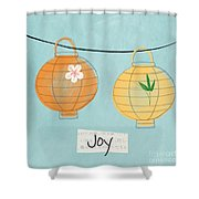 Joy Lanterns Shower Curtain by Linda Woods