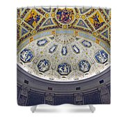 Jp Morgan Library Ornate Ceiling Shower Curtain