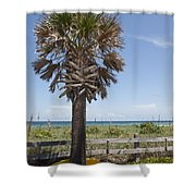 Juan Ponce De Leon Landing Site In Florida Shower Curtain