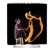 Juggling Fire Shower Curtain