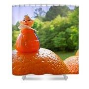Juggling Oranges Shower Curtain