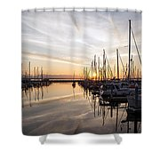 July Evening In The Marina Shower Curtain