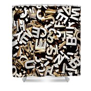 Jumbled Letters Shower Curtain