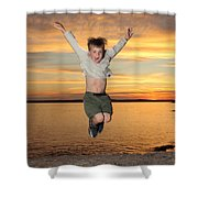 Jumping For Joy Shower Curtain by Ted Kinsman