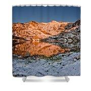June Snowfall At Angel Lake Shower Curtain