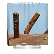 Junkyard Macro No. 11 Shower Curtain