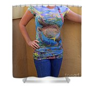 Jupiter Performance Ladies Shirt Shower Curtain