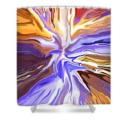 Just Abstract V Shower Curtain