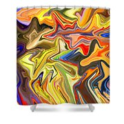Just Abstract Viii Shower Curtain