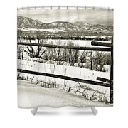 Just Beyond The Fence 1 Shower Curtain