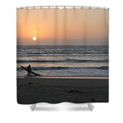Just One More Wave Shower Curtain