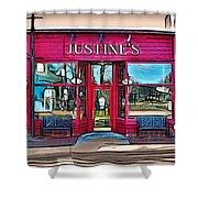 Justine's Ice Cream Parlour Shower Curtain