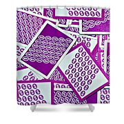 K And B Playing Cards New Orleans Shower Curtain
