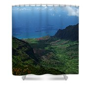 Kalalau Valley 2 Shower Curtain by Ken Smith