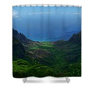 Kalalau Valley 3 Shower Curtain by Ken Smith