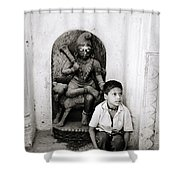 Kali In Benares Shower Curtain by Shaun Higson
