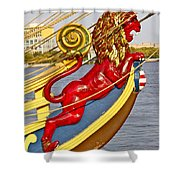 Kalmar Nyckel Red Lion Shower Curtain