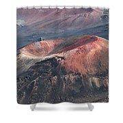 Kamaolii Cinder Cone - Haleakala Crater - View From Kalahaku  Shower Curtain