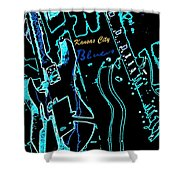 Kansas City Blues Shower Curtain