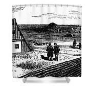 Kansas, Mennonites, C1874 Shower Curtain