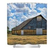 Kansas Stone Barn Shower Curtain