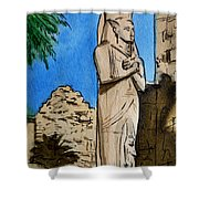 Karnak Temple Egypt Shower Curtain by Irina Sztukowski
