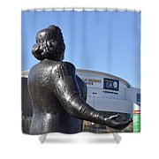 Kate Smith - God Bless America Shower Curtain by Bill Cannon