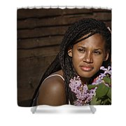 Katie The Beautiful Woman Shower Curtain