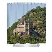 Katz Castle On A Hillside Shower Curtain