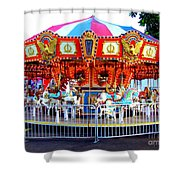 Kauai Carousel At Dusk Shower Curtain