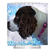 Kaya Paint Filter Shower Curtain
