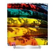 Kayak Colors Shower Curtain