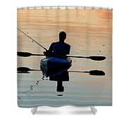 Kayak Fisherman Shower Curtain