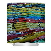 Kayak Row Shower Curtain
