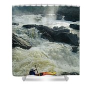 Kayaker Running Maryland Side Of Great Shower Curtain