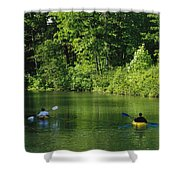 Kayakers Paddle In The Headwaters Shower Curtain