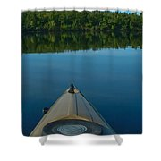 Kayaking Range Ponds 0003 Shower Curtain